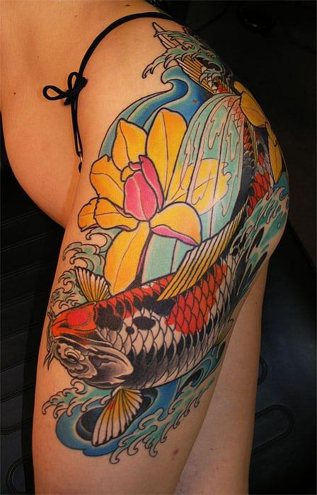 55-tatuagens-femininas-de-carpa-na-perna